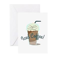 Iced Coffee Greeting Cards
