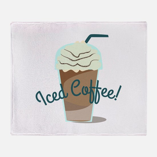 Iced Coffee Throw Blanket