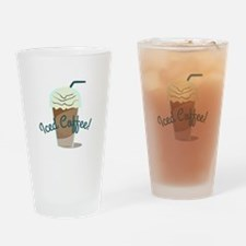Iced Coffee Drinking Glass