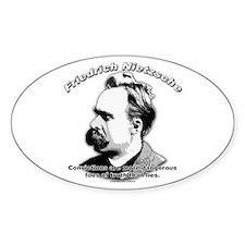 Friedrich Nietzsche 02 Oval Decal