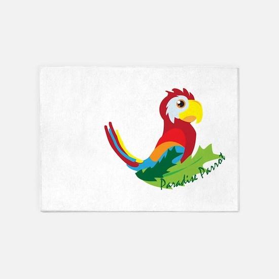 Paradise Parrot 5'x7'Area Rug