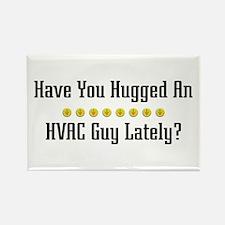 Hugged HVAC Guy Rectangle Magnet