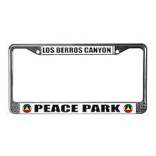 Los Berros Peace Park License Plate Frame