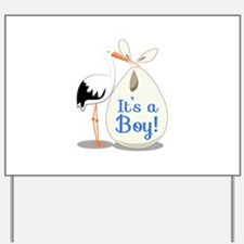 Boy Announcement Yard Sign
