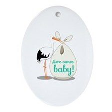 Baby Announcement Ornament (Oval)