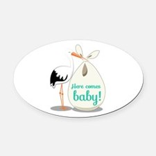 Baby Announcement Oval Car Magnet