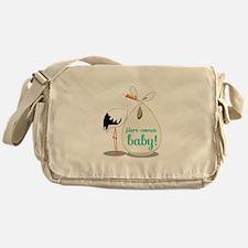 Baby Announcement Messenger Bag