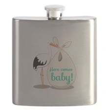 Baby Announcement Flask