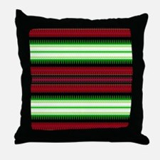 Aztec Geometric Tribal Pattern Throw Pillow