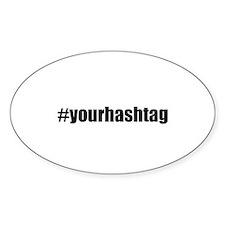 Customizable Hashtag Decal