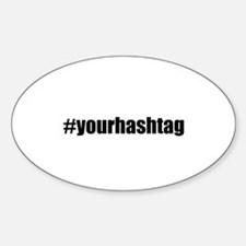 Customizable Hashtag Decal