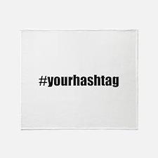 Customizable Hashtag Throw Blanket