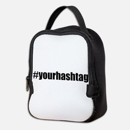 Customizable Hashtag Neoprene Lunch Bag