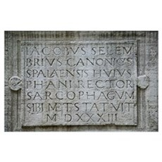 SOLIN / SALONA. Ruins of the Roman city of SALONA Poster
