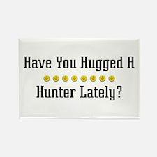 Hugged Hunter Rectangle Magnet