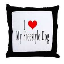 I Love My Freestyle Dog Throw Pillow