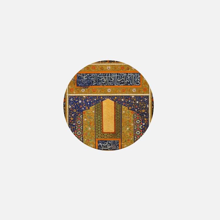 Vintage Islamic art Mini Button
