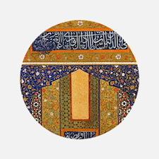 "Vintage Islamic art 3.5"" Button"
