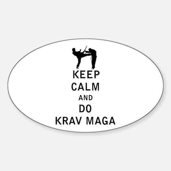 Keep Calm and Do Krav Maga Decal