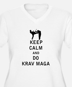 Keep Calm and Do Krav Maga Plus Size T-Shirt