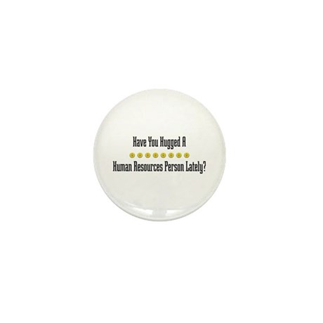 Hugged Human Resources Person Mini Button (100 pac