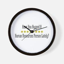 Hugged Human Resources Person Wall Clock