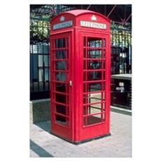 Red telephone booth in London, England. Canvas Art