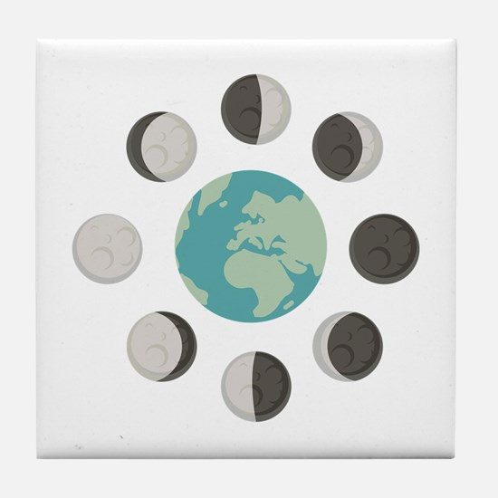 Moon Phases Tile Coaster
