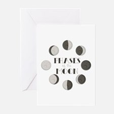 Phases of the Moon Greeting Cards