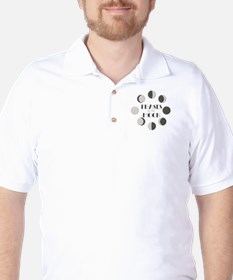 Phases of the Moon Golf Shirt