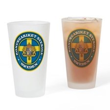 Swedish Medallion Drinking Glass