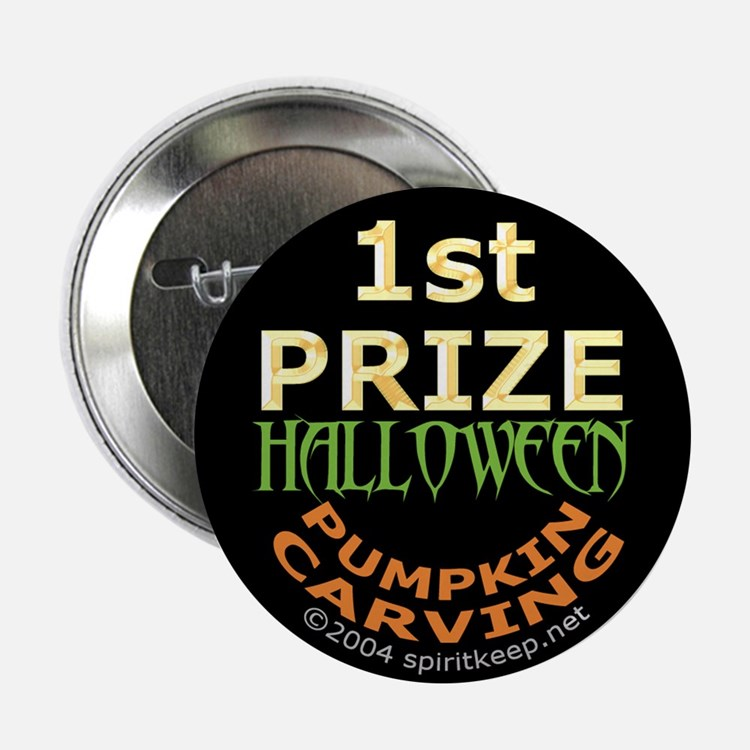 1st Prize Halloween Pumpkin Carving Button