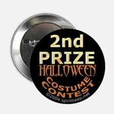 2nd Prize Halloween Costume Contest Button