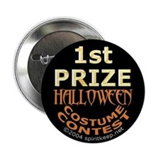 1st Prize Halloween Costume Contest Button