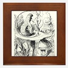 Alice in Wonderland Caterpillar Framed Tile
