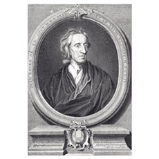John Locke English philosopher by Kneller, 17th ce Poster