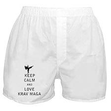 Keep Calm and Love Krav Maga Boxer Shorts
