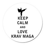 Krav maga Round Car Magnets