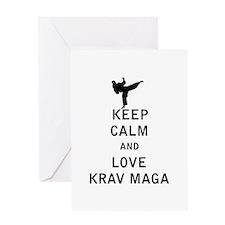Keep Calm and Love Krav Maga Greeting Cards