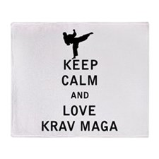 Keep Calm and Love Krav Maga Throw Blanket