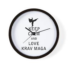 Keep Calm and Love Krav Maga Wall Clock