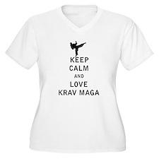 Keep Calm and Love Krav Maga Plus Size T-Shirt