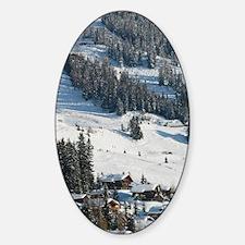 VERBIER: Ski Resort / Winter Town & Sticker (Oval)