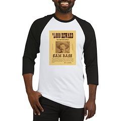 Wanted Sam Bass Baseball Jersey