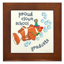 Proud Clown School Graduate Framed Tile