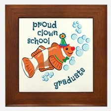 Proud Clown School Graduate Framed Tile