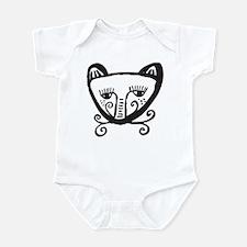Cat Face Infant Creeper