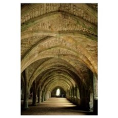Fountains Abbey England, Yorkshire, World Heritage Framed Print
