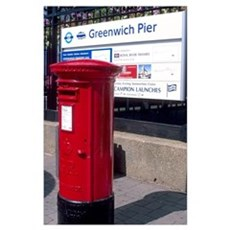 British mail box in London. Poster