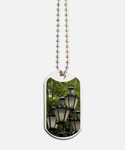 Estonia, Tallinn. Street lamp detail. Dog Tags